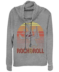Women's Disney Lilo Stitch Rock and Roll Stitch Fleece Cowl Neck Sweatshirt