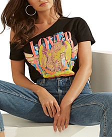 Off-The-Shoulder Graphic Lover Top