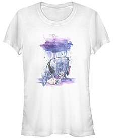 Women's Winnie the Pooh Watercolor Eeyore Short Sleeve T-shirt