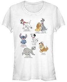 Women's Disney Classic Multi Franchise Dog Breeds Short Sleeve T-shirt