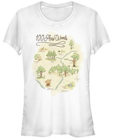 Women's Winnie the Pooh Acre Map Short Sleeve T-shirt