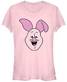 Women's Winnie the Pooh Piglet Big Face Short Sleeve T-shirt