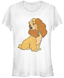 Women's Lady and the Tramp Lady Vintage-Like Short Sleeve T-shirt