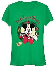 Women's Disney Mickey Classic Holiday Cheer Mom Short Sleeve T-shirt