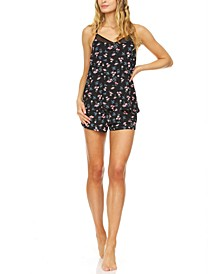 Rylee Floral-Print Cami & Tap Shorts Sleep Set