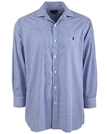 폴로 랄프로렌 스트라이프 드레스 셔츠 Polo Ralph Lauren Mens Classic/Regular-Fit Wrinkle-Resistant Stripe Dress Shirt,Blue/white