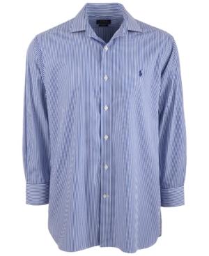 Polo Ralph Lauren Men's Classic/Regular-Fit Wrinkle-Resistant Stripe Dress Shirt