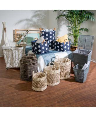 Coastal Collection 2-Pc. Printed Decorative Storage Bin Set