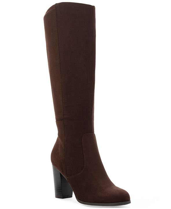 Style & Co Addyy Wide-Calf Dress Boots, Created for Macy's
