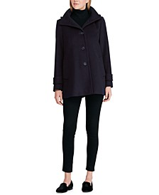 Wool-Blend Hooded Coat, Created for Macy's
