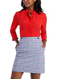 Glen Plaid Skirt, Created For Macy's
