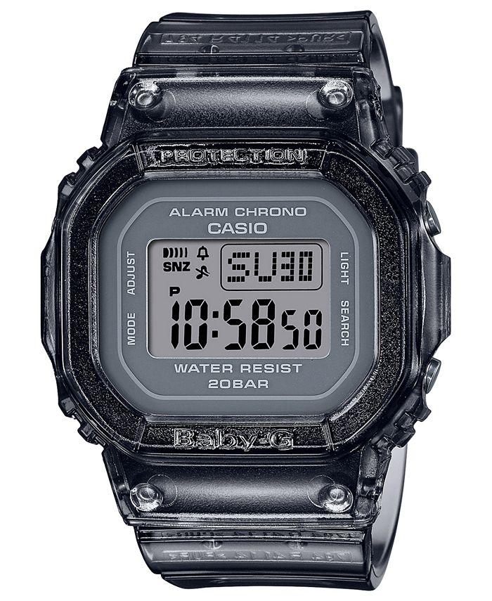 G-Shock - Women's Digital Gray Jelly Strap Watch 40x40mm