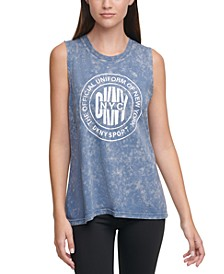 Sport Acid-Washed Logo Tank Top