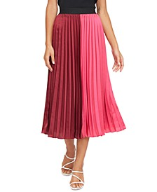 Frances Pleated Colorblocked Skirt