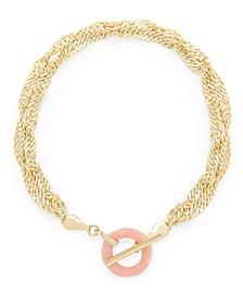 14K Gold Plated Maggie Toggle Bracelet
