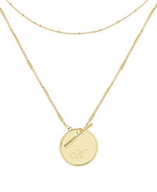 14K Gold Plated Grace Initial Layering Necklace Set