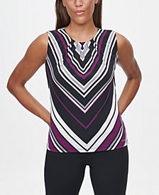 Calvin Klein Chevron Striped Top