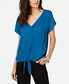 INC Tie-Front Top, Created for Macy's