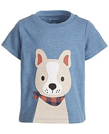 Toddler Boys Short Sleeve Happy Dog Face Tee, Created for Macy's