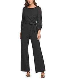 DKNY Pleated-Sleeve Jumpsuit