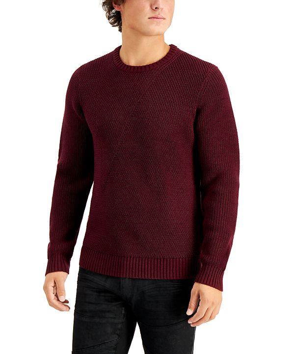 INC International Concepts INC Men's Crewneck Letter Sweater, Created for Macy's