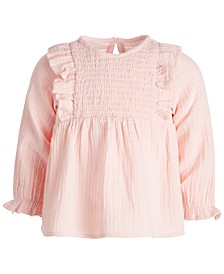 Baby Girls Smocked Cotton Top, Created for Macy's