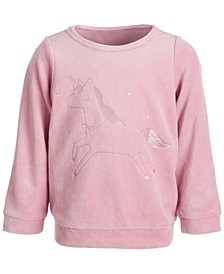 Baby Girls Unicorn Velour Tee, Created for Macy's