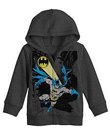 Batman Costume Full Zip Big Boys Hoodie with Sound Chip