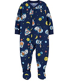 Baby Boy 1-Piece Loose Fit Footie PJs