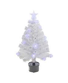 Pre-Lit Iridescent Fibre Optic Artificial Christmas Tree