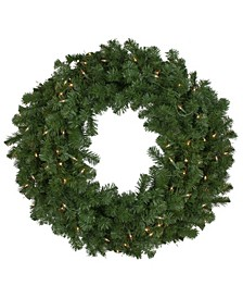 Pre-Lit Deluxe Windsor Pine Artificial Christmas Wreath-Clear Lights