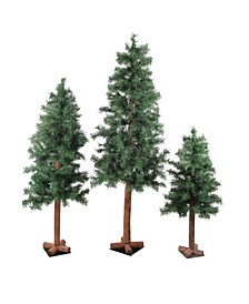 Unlit Slim Woodland Alpine Artificial Christmas Trees
