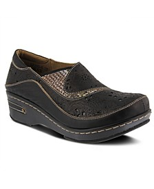 Women's Brankla Burnished Polished Clogs