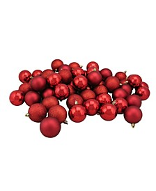 60 Count Shatterproof 4-Finish Christmas Ball Ornaments