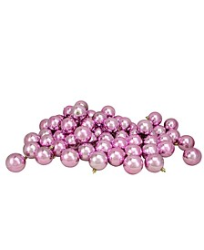 60 Count Bubble-gum Shatterproof Shiny Christmas Ball Ornaments