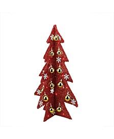 Pre-Lit Slim Tinsel Artificial Christmas Tree-LED Lights