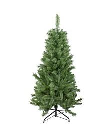 Unlit Slim Mixed Pine Artificial Christmas Tree