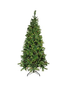 Pre-Lit Slim Mount Beacon Pine Artificial Christmas Tree