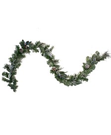Unlit Mixed Pine and Blueberries Artificial Christmas Garland