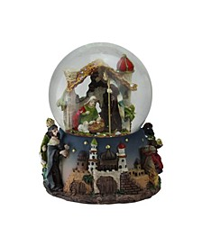 Nativity Manger Scene Religious Musical Christmas Snow Globe