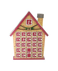 House with Advent Calendar Tabletop Christmas Decoration