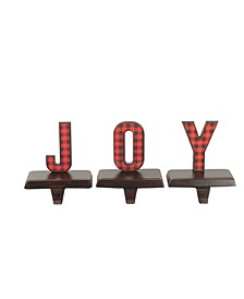 Buffalo Plaid Joy Christmas Stocking Holder