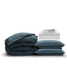 Luxe Soft Smooth Perfect 12-Piece Bedding Bundle with Down-Alt Gel Fiber, King
