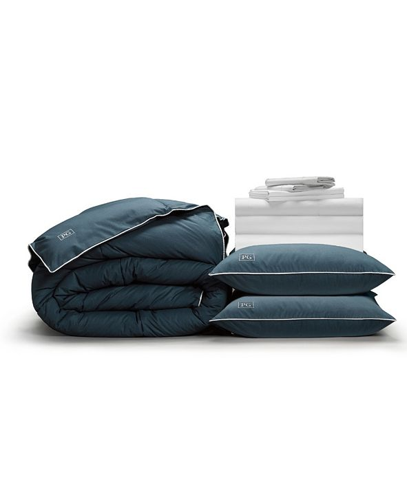 Pillow Guy Luxe Soft Smooth Perfect 12-Piece Bedding Bundle with Down-Alt Gel Fiber, King