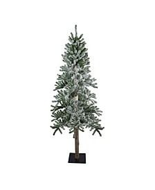 Flocked Alpine Artificial Christmas Tree-Unlit