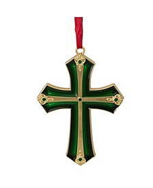 Layering Effect Cross Christmas Ornament with Crystals