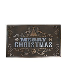 """Copper and """"Merry Christmas"""" with Reindeer Christmas Doormat"""