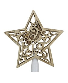 Lighted Battery Operated Brown Star Christmas Tree Topper