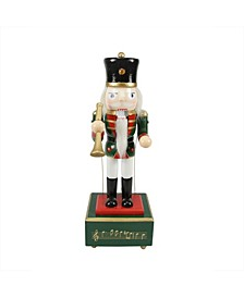 Animated and Musical Christmas Nutcracker with Trumpet