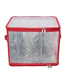 Transparent Zip Up Christmas Light Storage Box